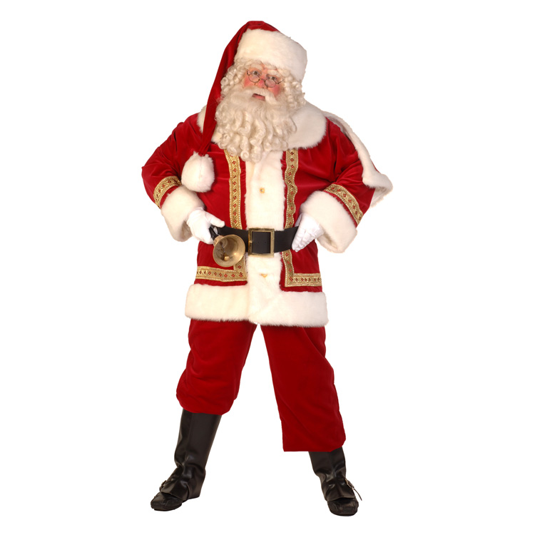 kerstman fluweel